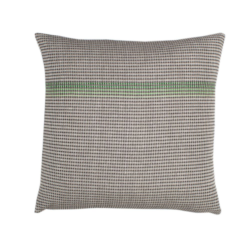 organic cotton hand embroidered green square,WAFFLE DESIGN ,Cushions,beige,brown,cushion,furniture,green,linens,pattern,pillow,textile,throw pillow,turquoise