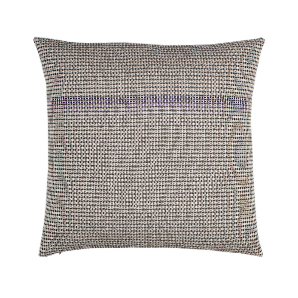 organic cotton hand embroidered purple square,WAFFLE DESIGN ,Cushions,beige,brown,cushion,furniture,linens,pattern,pillow,rectangle,textile,throw pillow