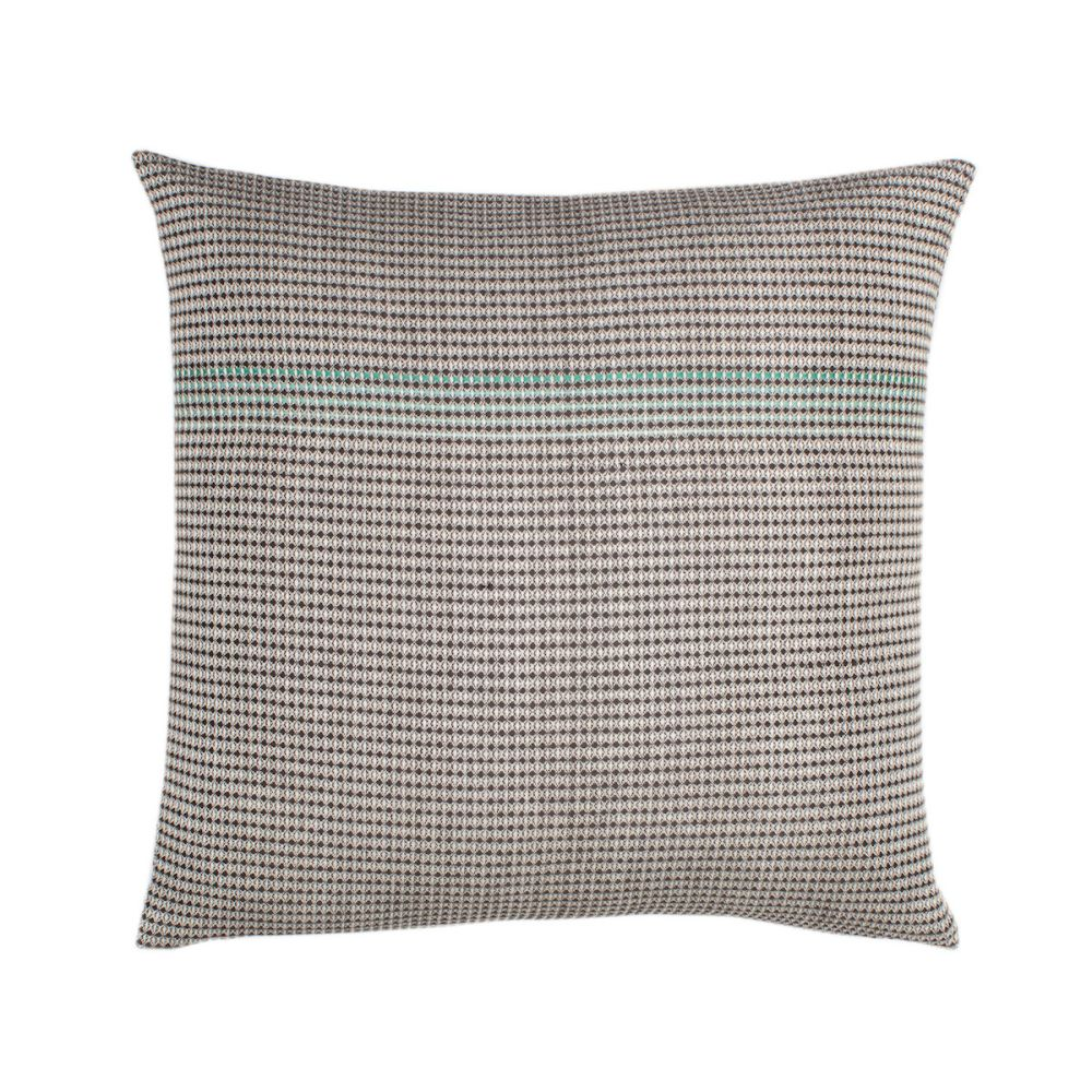 organic cotton hand embroidered teal square,WAFFLE DESIGN ,Cushions,beige,brown,cushion,furniture,green,linens,pattern,pillow,rectangle,textile,throw pillow,turquoise