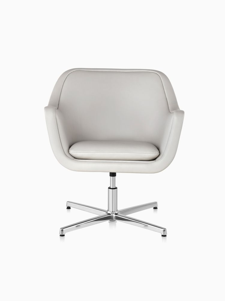 Polished aluminium,Herman Miller,Breakout Lounge & Armchairs,beige,chair,furniture,line,office chair,product,white