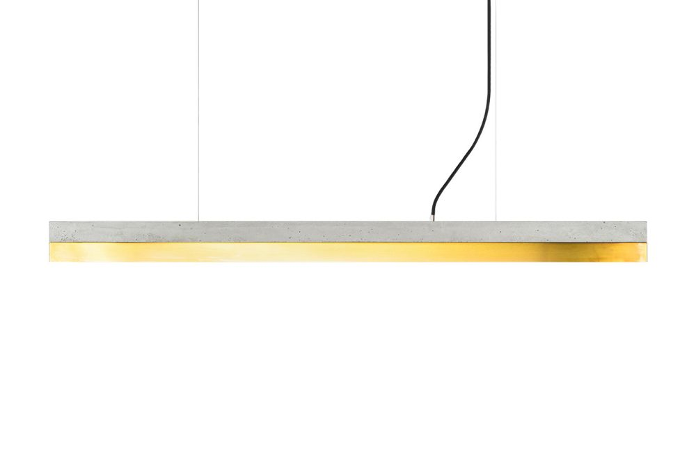 [C] Concrete & Brass Pendant Light by GANTlights