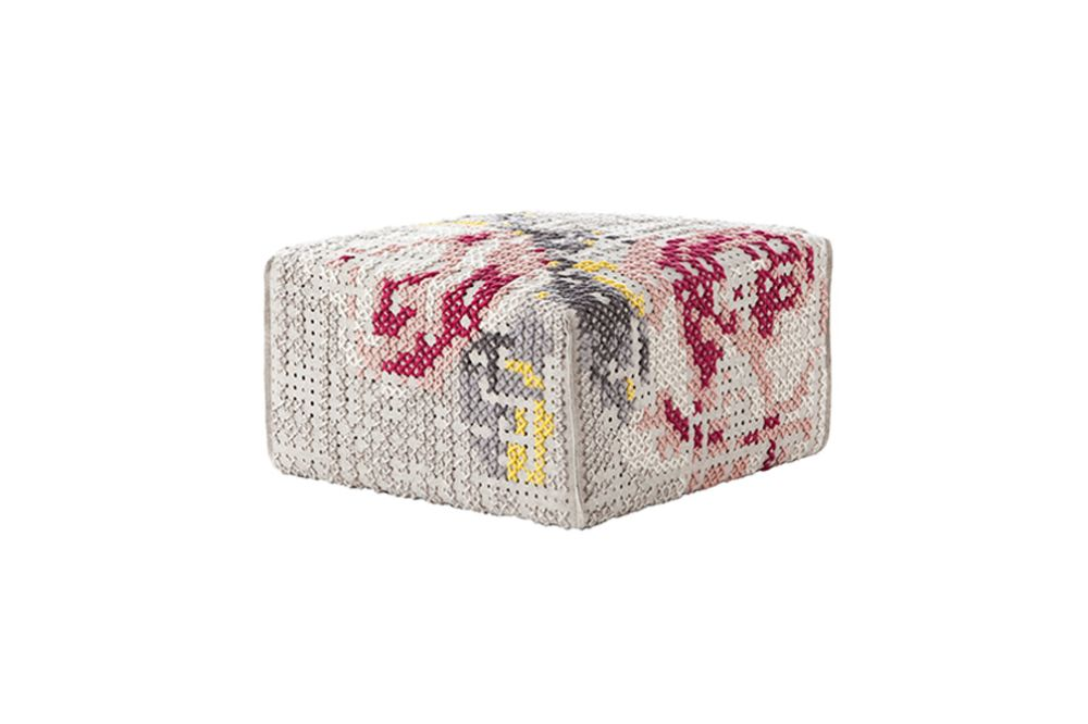 Canevas Square Flowers Ottoman by GAN