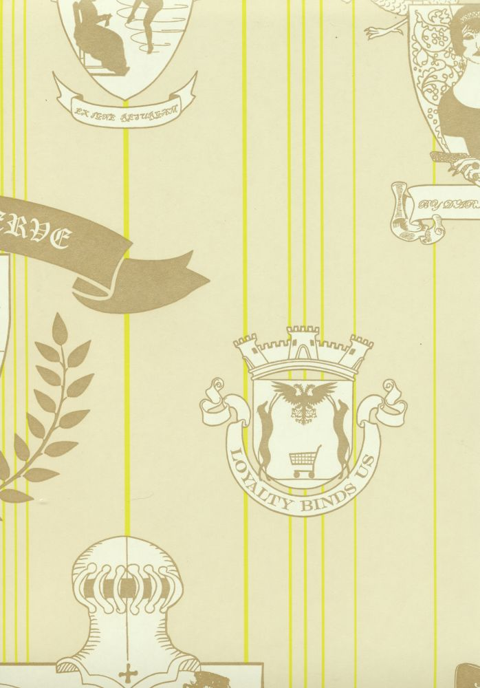 Hot Pink, Silver,Barneby Gates,Wallpapers,design,illustration,line,room,text,wallpaper,yellow