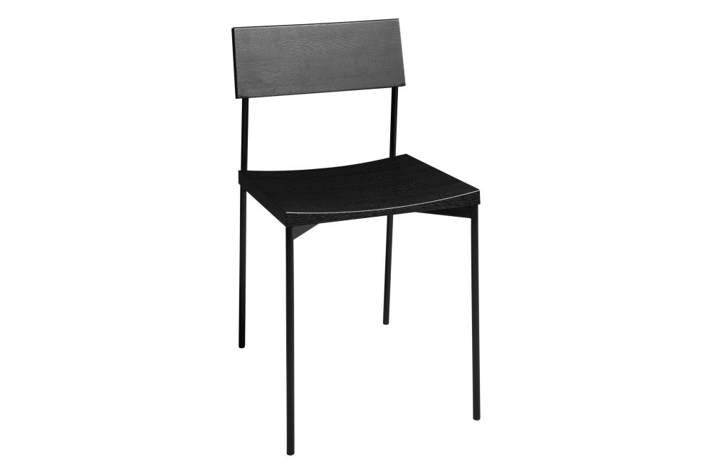 Jet Black Stained Oak, Jet Black,e15,Dining Chairs,chair,furniture,table