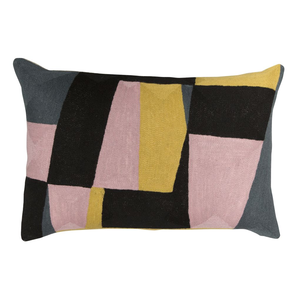 Niki Jones,Cushions,beige,cushion,furniture,linens,patchwork,pattern,pillow,pink,rectangle,textile,throw pillow,yellow