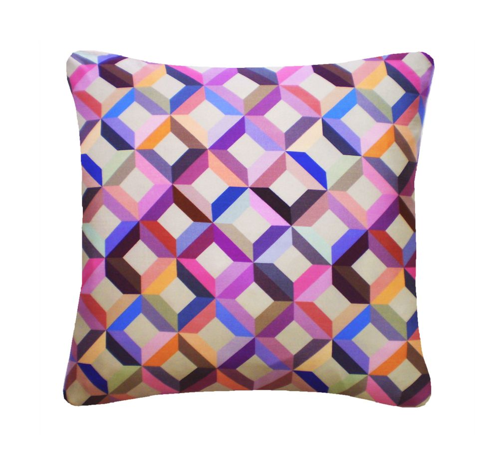 Lime Grey,Nitin Goyal London,Cushions,cushion,design,furniture,lavender,pattern,pillow,plaid,purple,rectangle,textile,throw pillow,violet