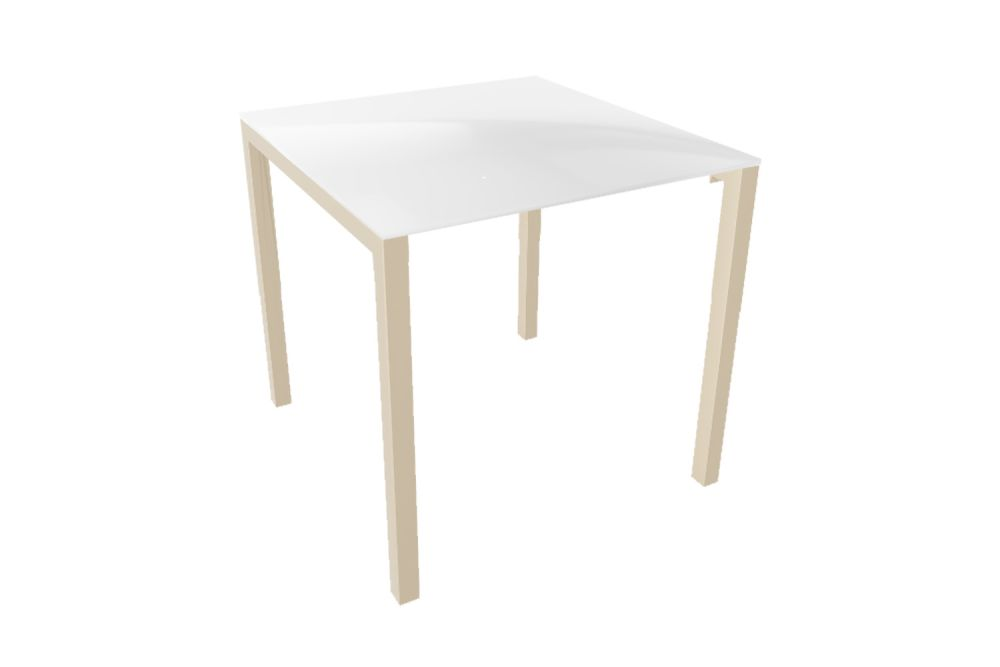 00 White, 70 x 70,Gaber,Cafe Tables,coffee table,end table,furniture,outdoor table,table