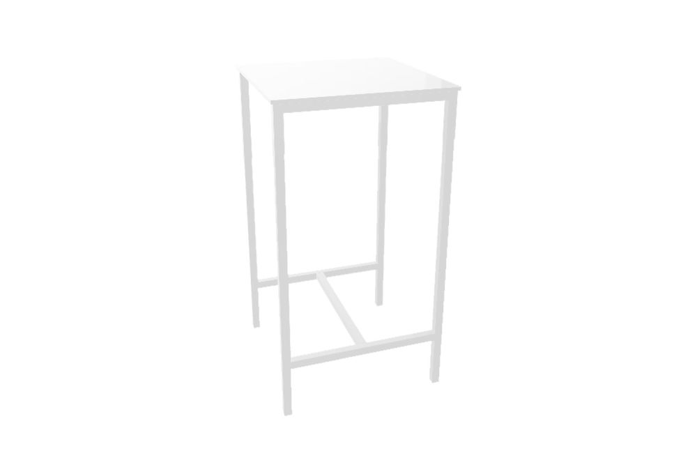 00 White,Gaber,High Tables,furniture,table,white