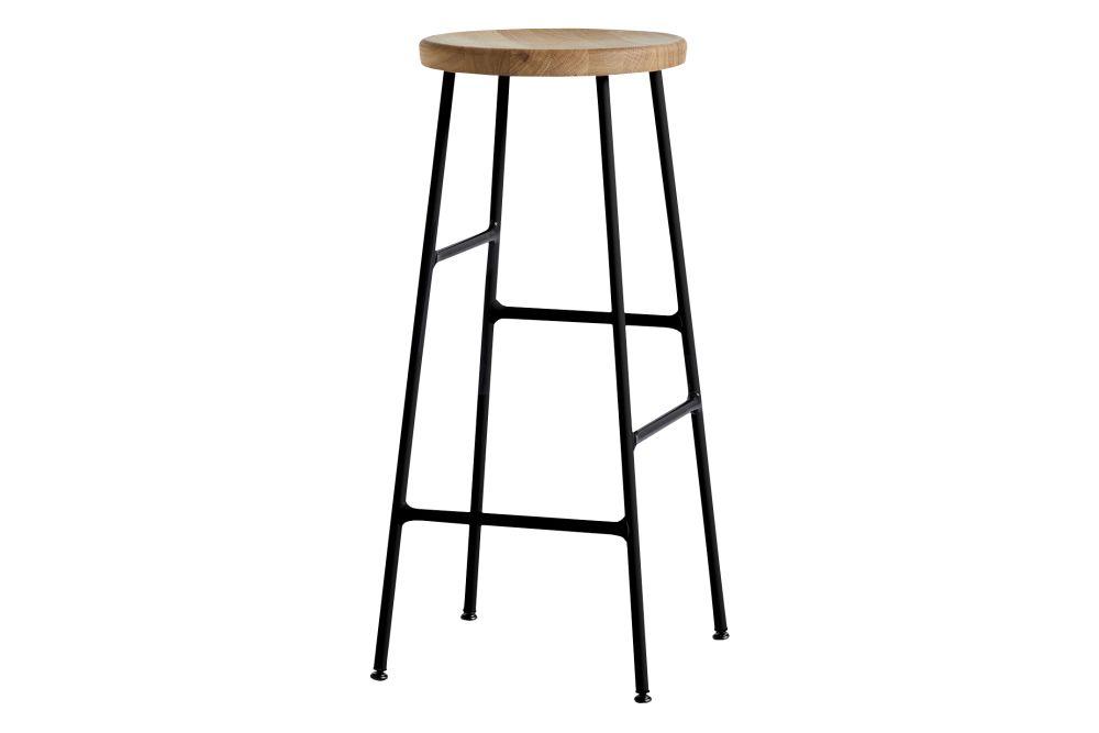 Wood Oiled Oak / Metal Soft Black,Hay,Stools,bar stool,furniture,line,stool,table