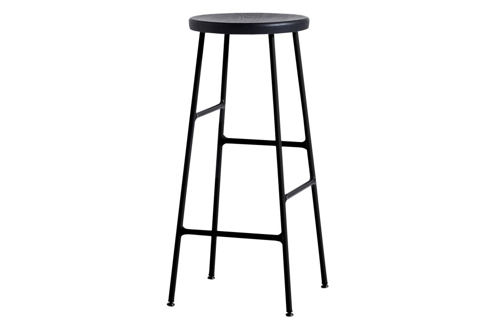 Wood Soft Black Oak / Metal Soft Black,Hay,Stools,bar stool,furniture,line,stool,table