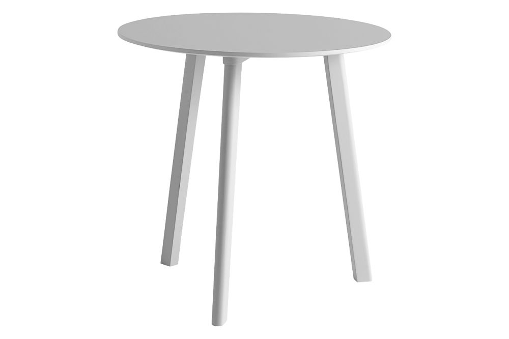 Laminate Pearl White / Wood Matt Oak, 75cm,Hay,Dining Tables,furniture,outdoor table,stool,table