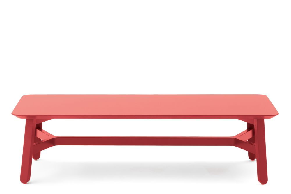 593 Bench Rosso - Red,Billiani,Benches,coffee table,desk,furniture,outdoor table,rectangle,table
