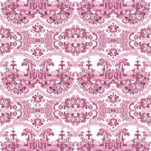 Beige - Delft Baroque Wallpaper,Mineheart,Wallpapers,design,line,magenta,pattern,pink,purple,textile,visual arts