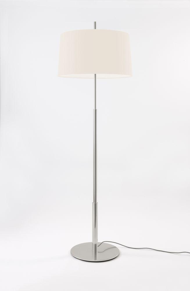 45, Satin nickel, White,Santa & Cole,Floor Lamps,floor,lamp,lampshade,light fixture,lighting,lighting accessory,table,white