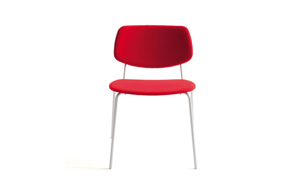 Divina 3 106, Bianco RAL 9016,Billiani,Dining Chairs,chair,furniture,material property,red