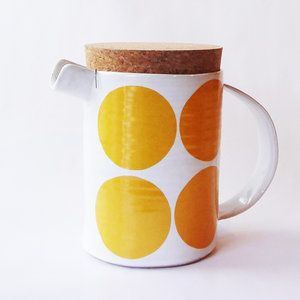 Black,Camilla Engdahl,Teapots & Cups,design,drinkware,jug,mug,orange,serveware,tableware,yellow