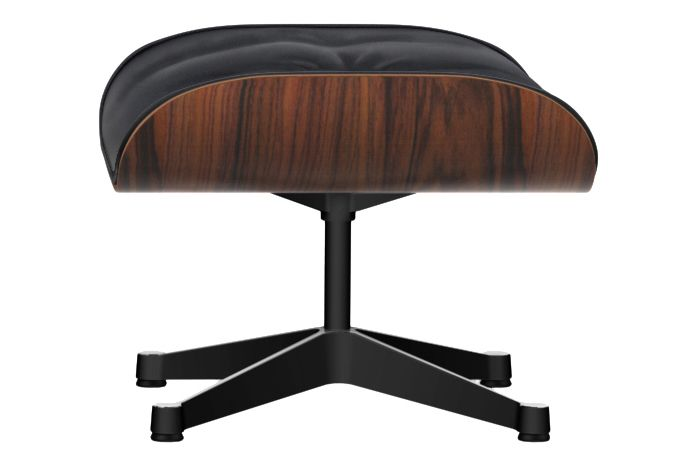 Chromed, Black pigmented walnut, 04 glides for carpet, Leather Grand 72 snow,Vitra,Footstools,furniture,product,table,wood