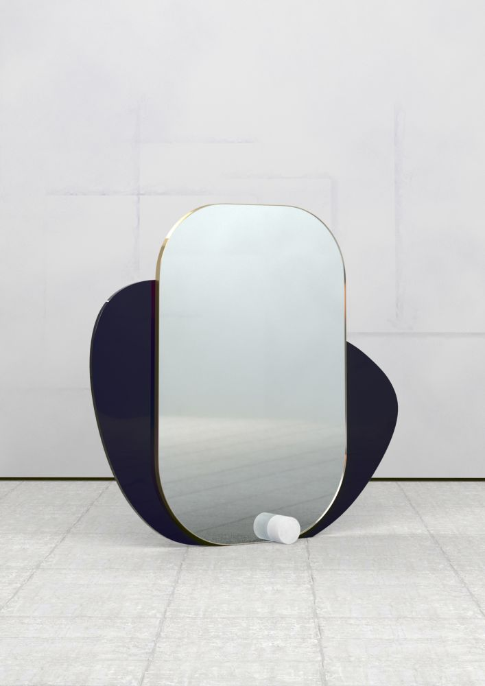 Lacquered Black,Theoreme Editions,Mirrors,design,furniture,table,white