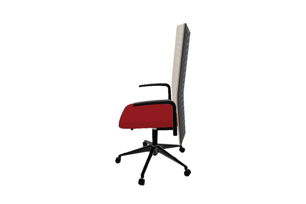 Thermoformed T01, Thermoformed T01, King L Fabric 1010, 10 Nero,Gaber,Task Chairs,chair,furniture,line,office chair