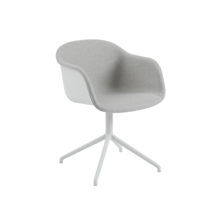 Fiber Armchair Front Upholstery - Swivel Base with Return by Muuto