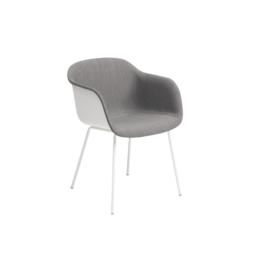 Fiber Armchair Front Upholstery - Tube Base by Muuto