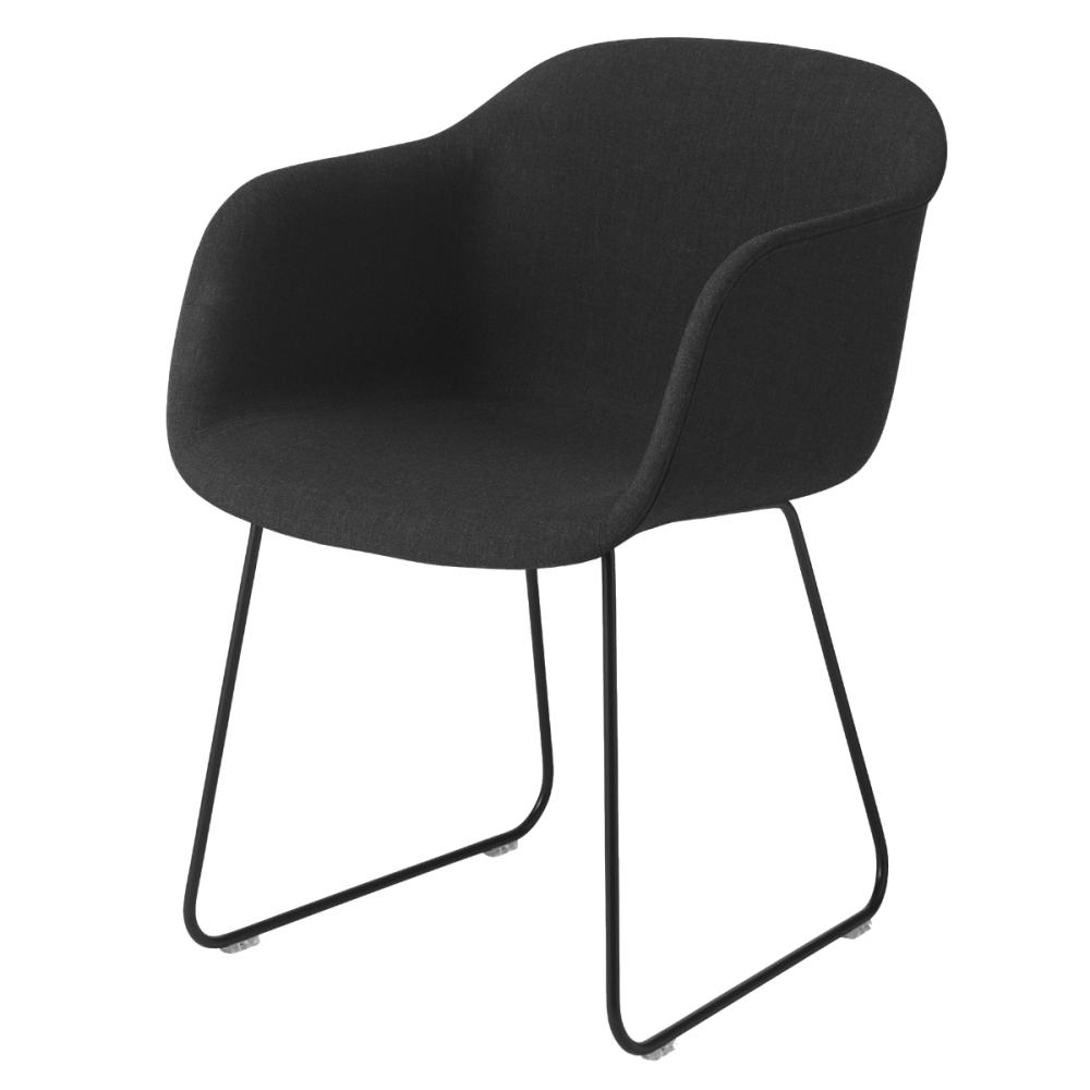 Fiber Armchair Sled Base - Upholstered by Muuto