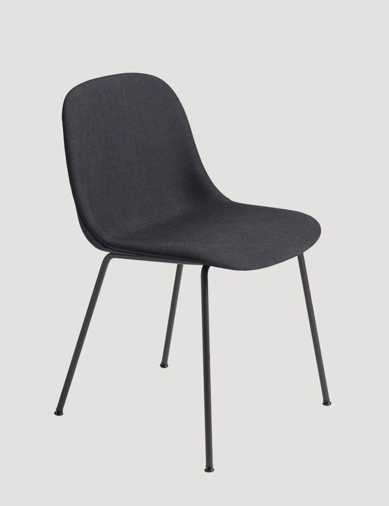 Fiber Side Chair Tube Base - Upholstered by Muuto