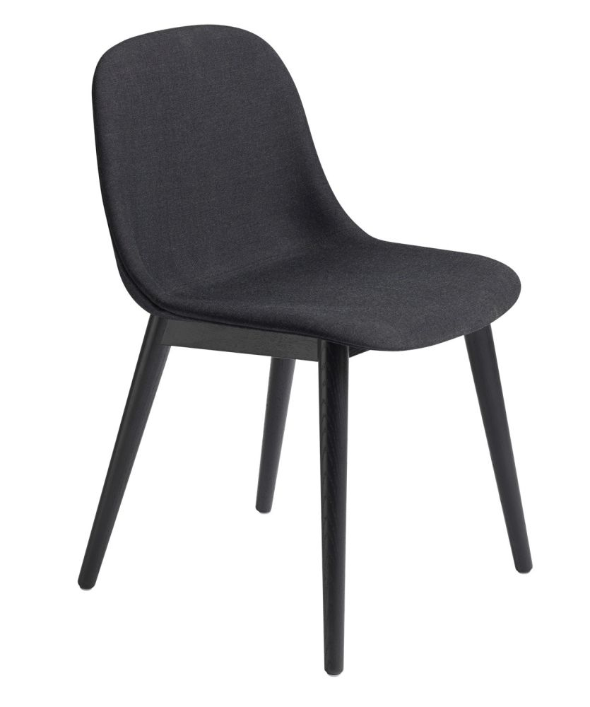 Fiber Side Chair Wood Base - Upholstered by Muuto