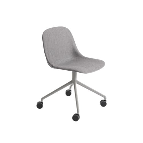 Fiber Side Chair/Swivel Base With Castors Upholstered Seat by Muuto