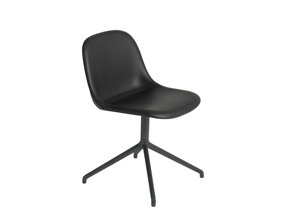 70230 Wooly Black,Muuto,Seating,chair,furniture,line,material property,office chair,plastic