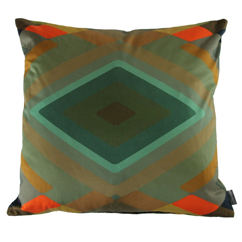 Small,Parris Wakefield Additions,Cushions,aqua,brown,cushion,design,furniture,green,orange,pattern,pillow,teal,throw pillow,turquoise