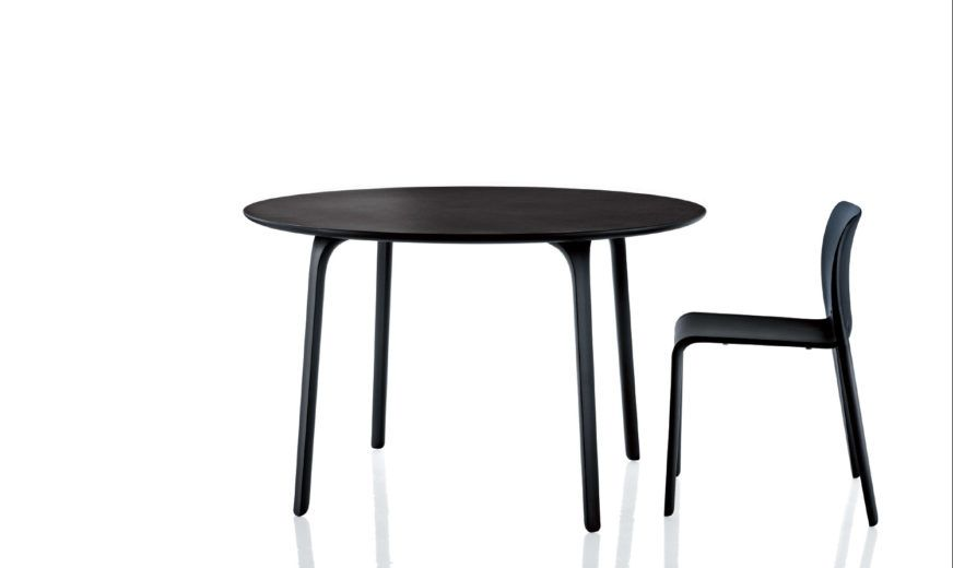 HPL, White, 120 cm,Magis,Dining Tables,black,chair,coffee table,furniture,outdoor table,table
