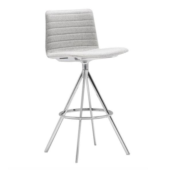 Andreu World Jacquard One, Steel finish CRB,Andreu World,Stools,bar stool,chair,furniture,white