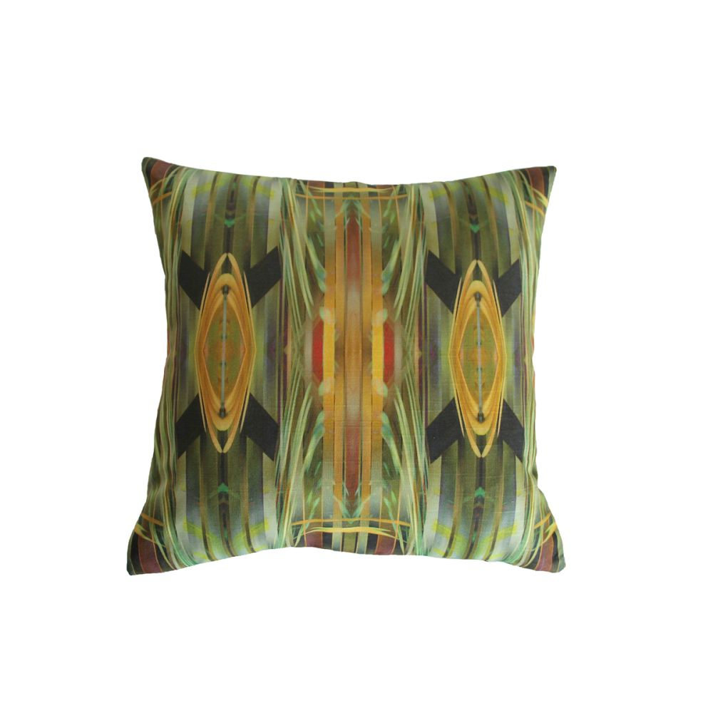 Large,Parris Wakefield Additions,Cushions,cushion,feather,furniture,green,leaf,linens,pillow,textile,throw pillow,yellow