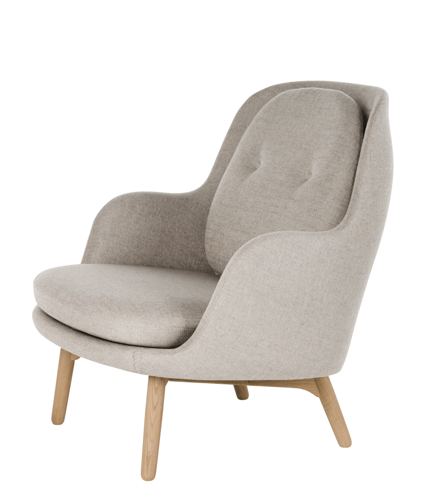 Fri Easy Chair with Wooden Base by Fritz Hansen