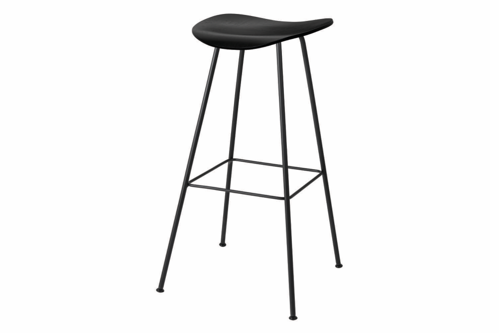 2D Counter Stool - Un-Upholstered, Center Base by Gubi