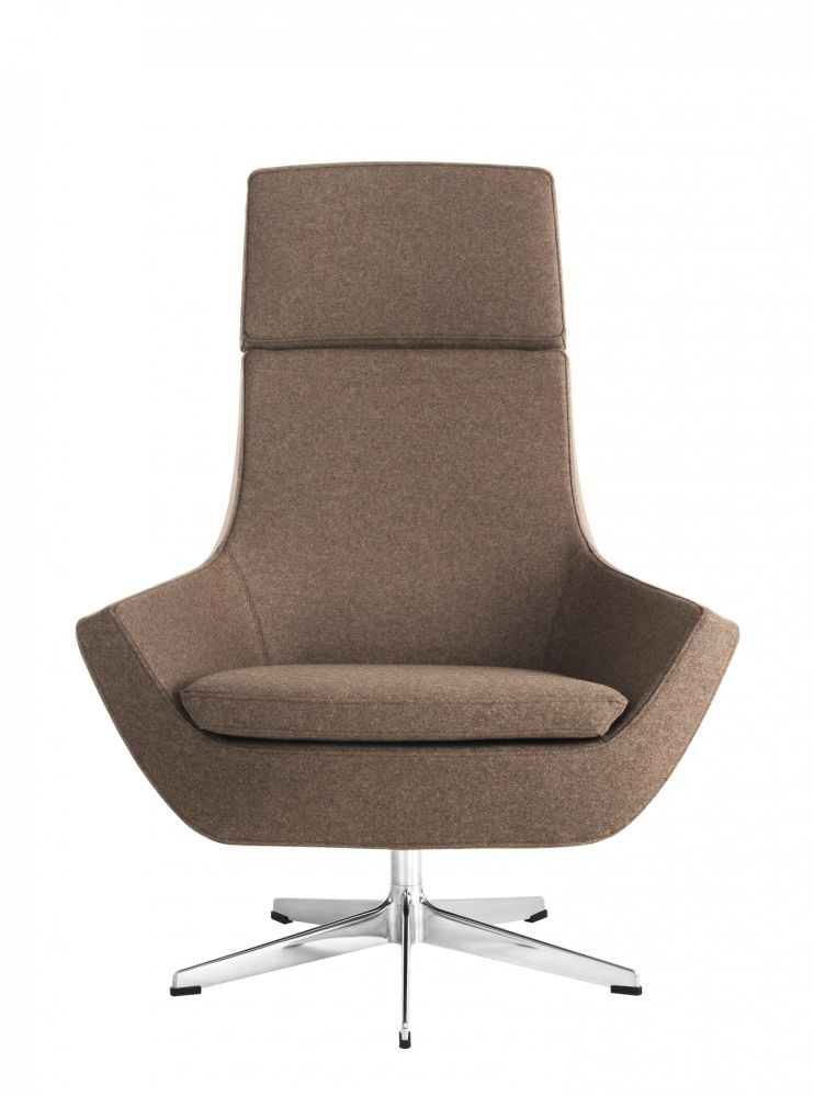 Happy High Back 5-star Base Swing Chair by Swedese