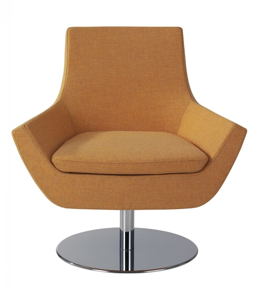 Happy Low Back Steel Disc Base Swing Chair by Swedese