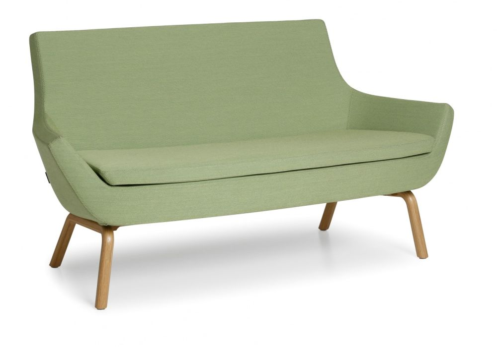 Happy Sofa Low Back Wood Base by Swedese