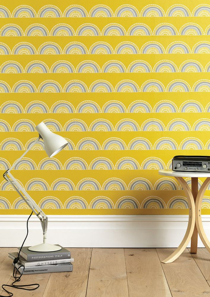 Order A Roll,Sian Elin ,Wallpapers,design,furniture,line,pattern,tile,wall,wallpaper,yellow
