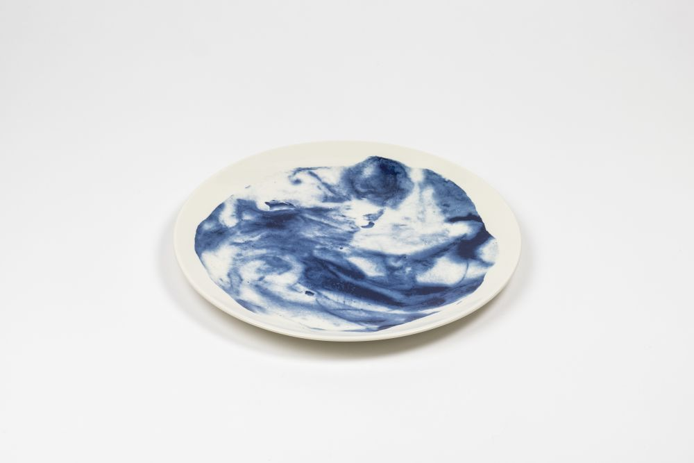 Indigo Storm Dinner Plate,1882 Ltd,Bowls & Plates,blue and white porcelain,ceramic,dishware,plate,platter,porcelain,tableware