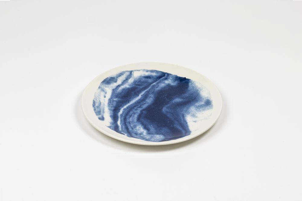 Indigo Storm Salad Plate,1882 Ltd,Bowls & Plates,blue,white