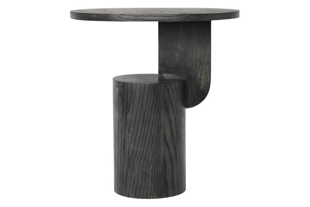 Black Stained,ferm LIVING,Coffee & Side Tables,furniture,stool,table