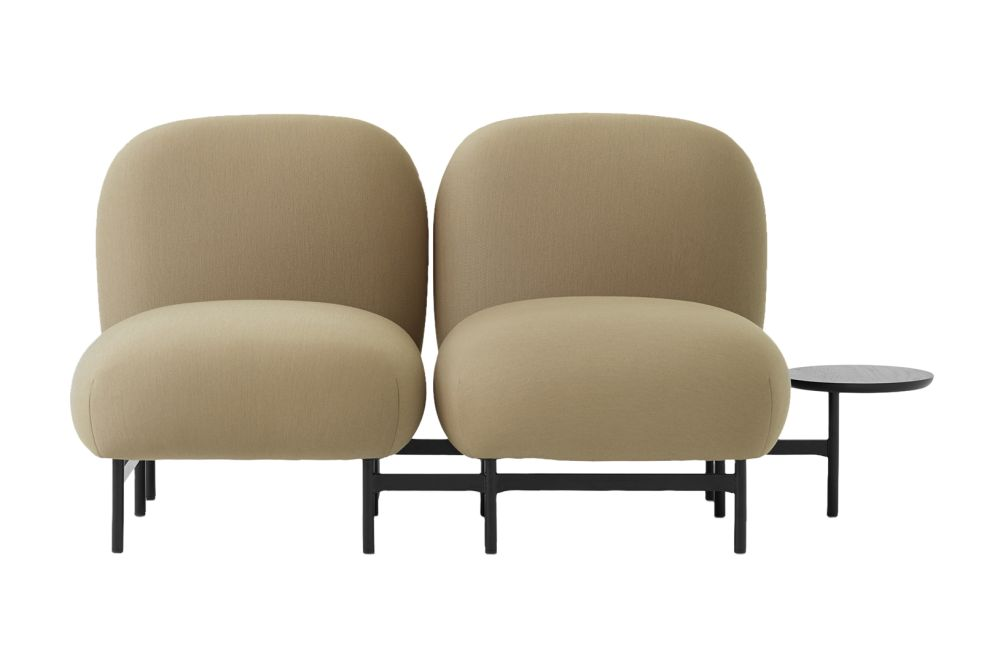 Isole Modular Seating System - 2 Seater Sofa with Round Table by &Tradition