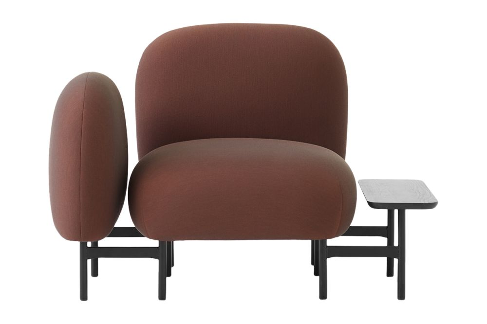 Isole Modular Seating System - One Seater Sofa with Armrest and Rectangular Table by &Tradition