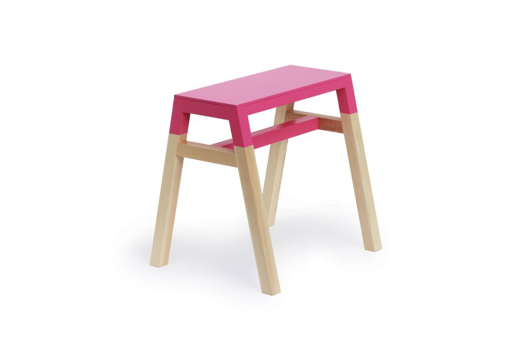 Pink,Thelermont Hupton,Stools,chair,furniture,pink,stool,table