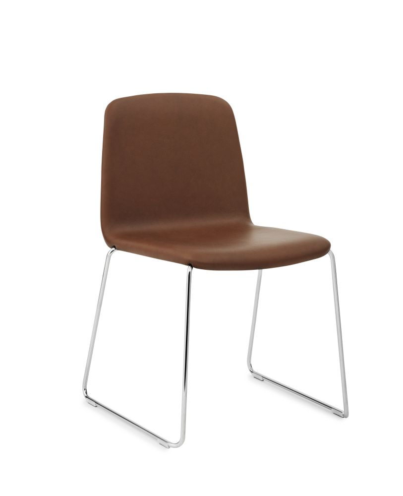 Fame 60005, NC Chrome,Normann Copenhagen,Dining Chairs,beige,brown,chair,furniture