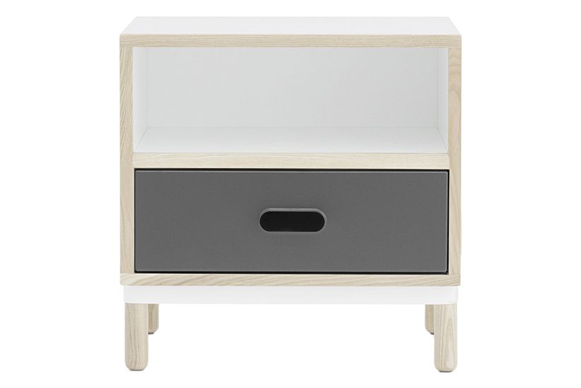 White,Normann Copenhagen,Bedside Tables,chest of drawers,drawer,furniture,nightstand,shelf,table