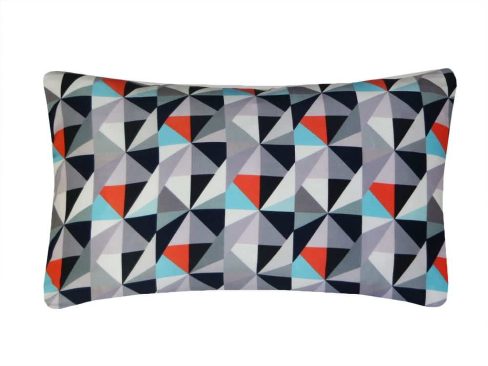 Berry and Lime,Nitin Goyal London,Cushions,cushion,design,furniture,linens,orange,pattern,pillow,rectangle,teal,textile,throw pillow,triangle,turquoise