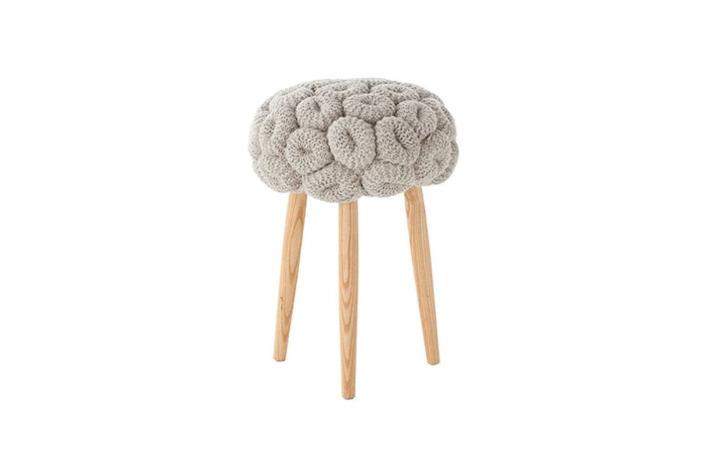 Knitted Stool Grey by GAN